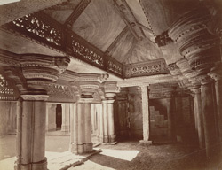 Interior of North Room, Man Mandir, Gwalior Fort.